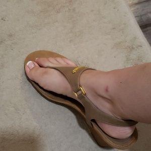 Ralph Lauren Shoes - Ralph Lauren tan wedge sandals size 10